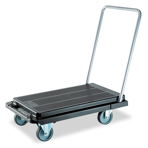 Heavy-Duty Platform Cart, 500 lb Capacity, 21 x 32.5 x 37.5, Black | by Plexsupply