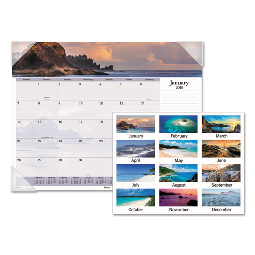Images Of The Sea Monthly Desk Pad Calendar By At A Glance