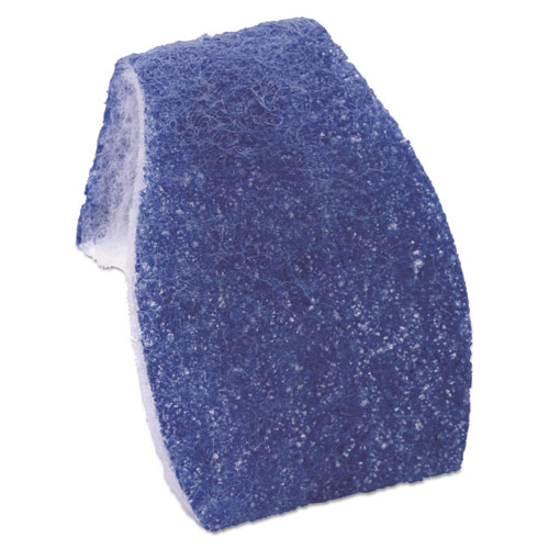 Disposable Toilet Scrubber Refill, Blue/White, 6/Pack