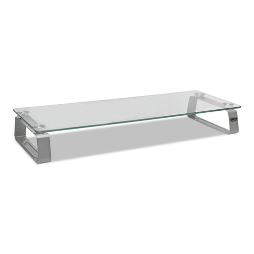 Universal Glass-Top Monitor Riser, 22w x 8d x 3h, Clear