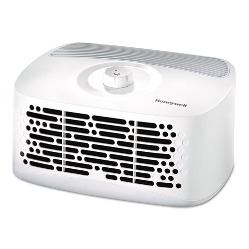 Honeywell HEPAClean Tabletop Air Purifier, 85 sq ft Room Capacity, White
