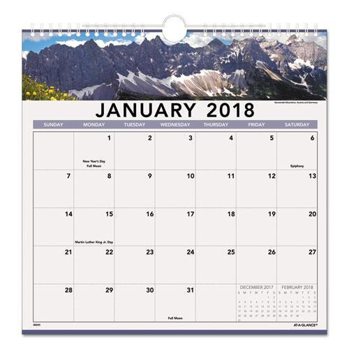 Monthly Wall Calendar : Landscape monthly wall calendar zerbee
