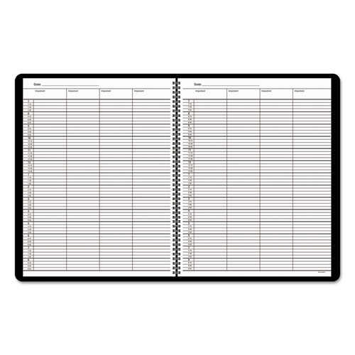 Four-Person Group Undated Daily Appointment Book, 10 7/8 x 8 1/2, White,