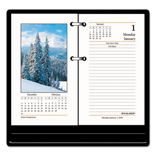 Calendar Planner Pc : At a glance photographic desk calendar refill