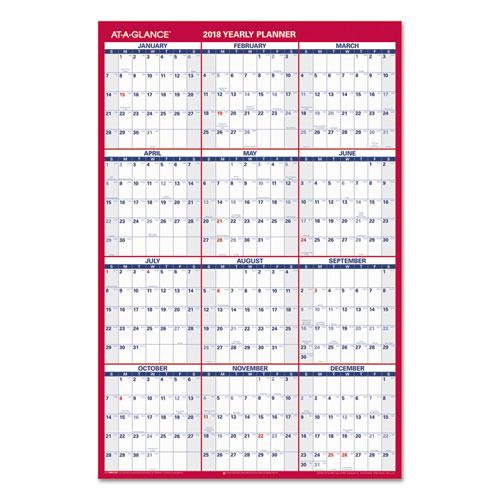 Year Calendar Horizontal : Aagpm at a glance vertical horizontal wall calendar
