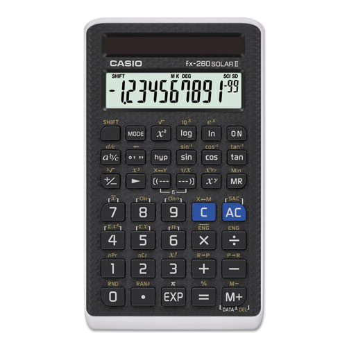 Casio® FX-260 Solar All-Purpose Scientific Calculator, 12-Digit LCD