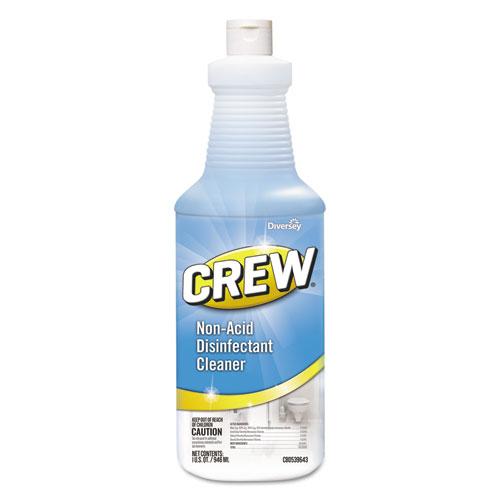 Diversey™ Crew Non-Acid Disinfectant Cleaner, Liquid, 32 oz, 6/Carton