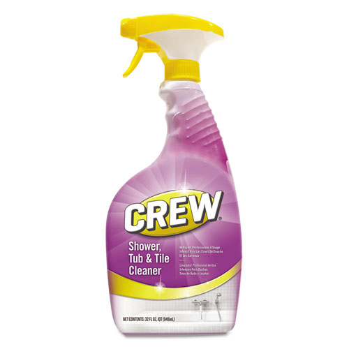 Diversey™ Crew Shower, Tub & Tile Cleaner, Liquid, 32 oz, 4/Carton