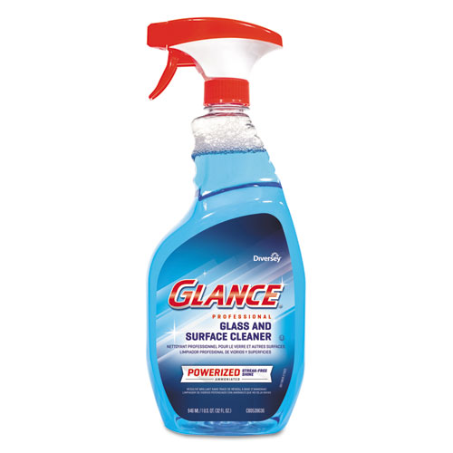 Diversey™ Glance Powerized Glass and Surface Cleaner, 32 oz, 8/Carton