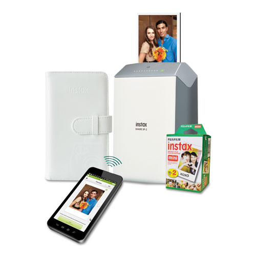 instax SHARE SP-2 Photo Printer Bundle, w/ Mini Film (20 shots) Photo Album