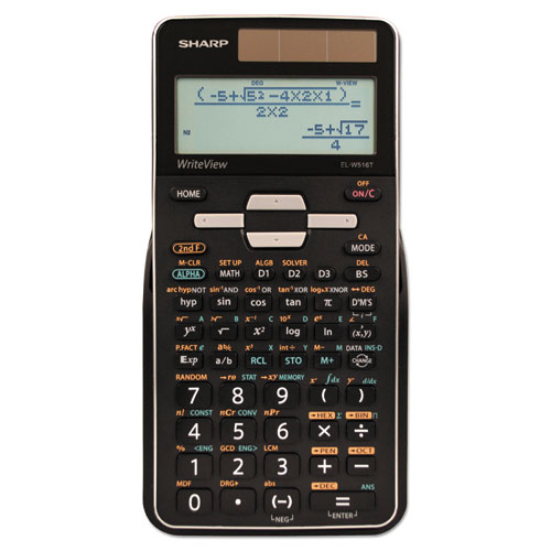 Sharp® EL-W516TBSL Scientific Calculator, 16-Digit LCD