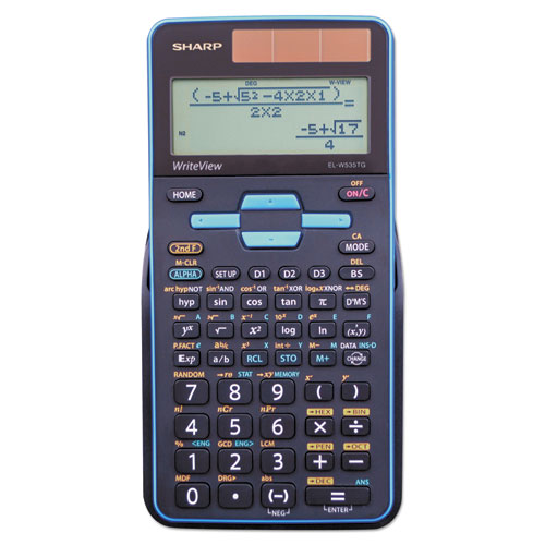 Sharp® EL-W535TGBBL Scientific Calculator, 16-Digit LCD