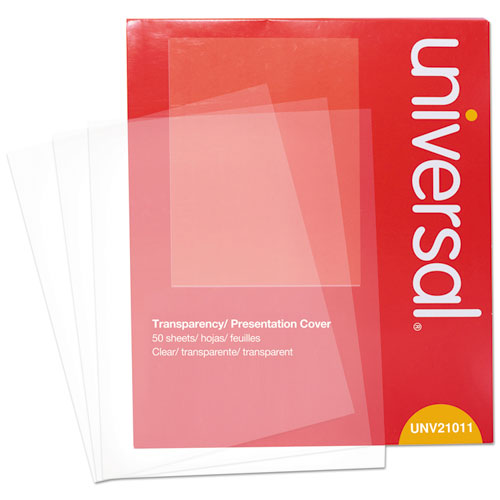 Transparent Sheets, BW Laser/Copier, Letter, Clear, 50/Pack
