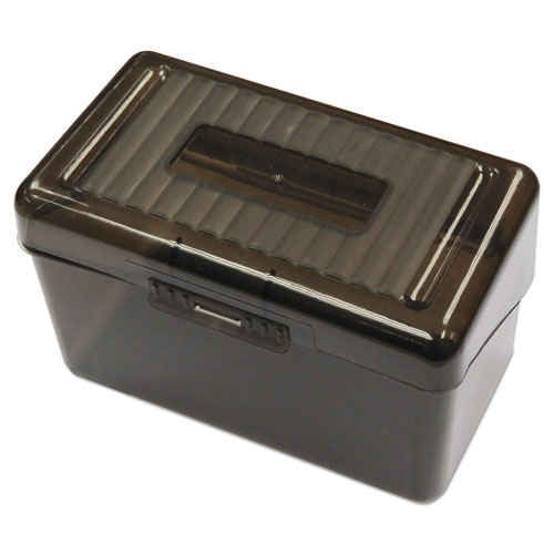 Plastic Index Card Boxes, 3 x 5, Translucent Black