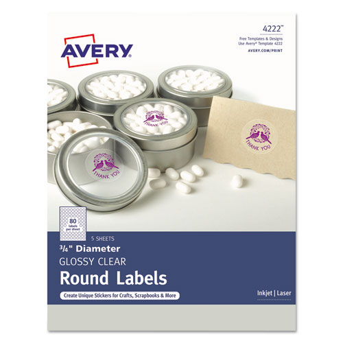 picture about Avery Printable Stickers named Avery® Printable Self-Adhesive Lasting 3/4\