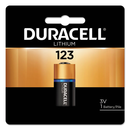 Duracell® Ultra High-Power Lithium Battery, 123, 3V, 1/EA