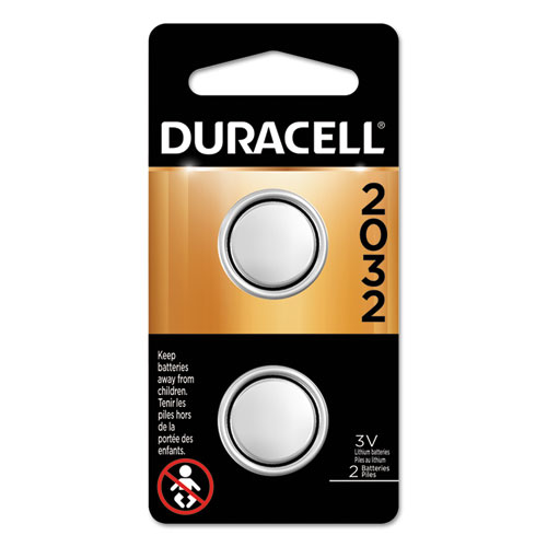 Lithium Coin Battery, 2032, 2/Pack