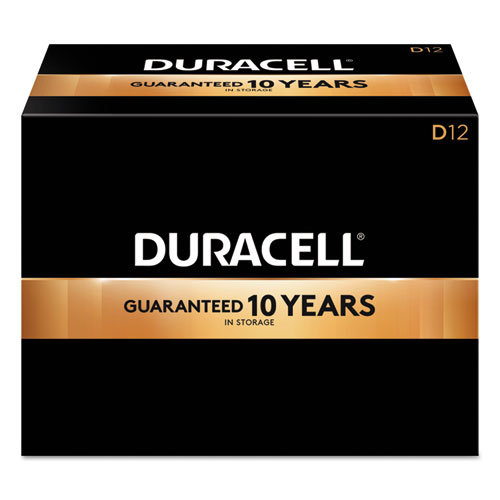 Duracell® CopperTop Alkaline Batteries, D, 12/BX
