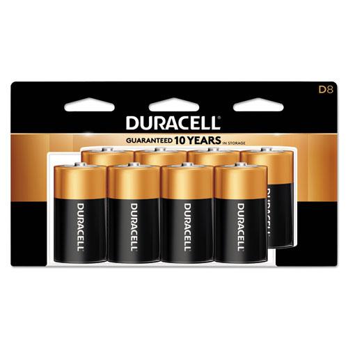 Duracell® CopperTop Alkaline Batteries, D, 8/PK