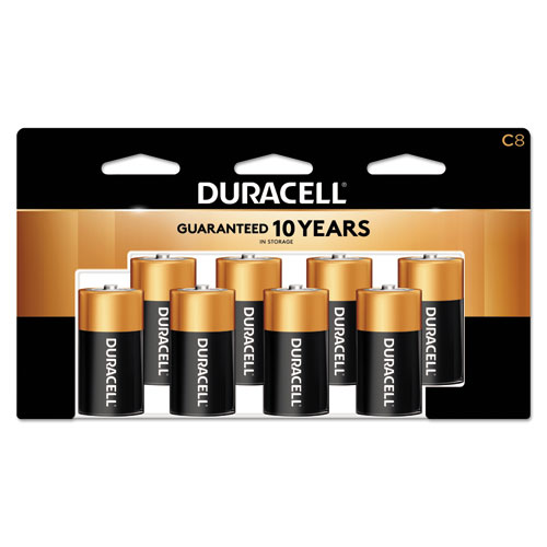 Duracell® CopperTop Alkaline Batteries, C, 8/PK
