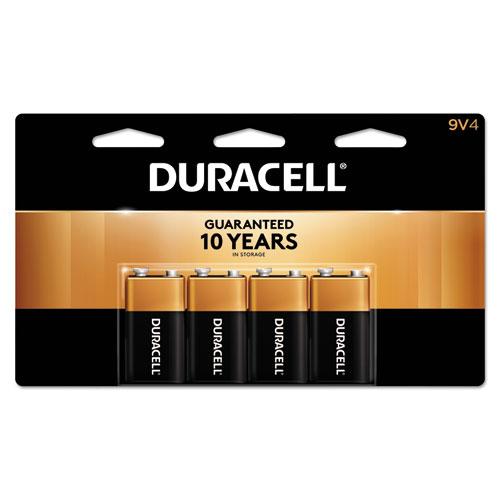 Duracell® CopperTop Alkaline Batteries, 9V, 4/PK
