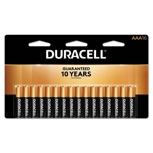 Duracell® CopperTop Alkaline Batteries, AAA, 16/PK