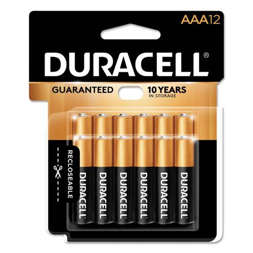 Duracell® CopperTop Alkaline Batteries, AAA, 12/PK