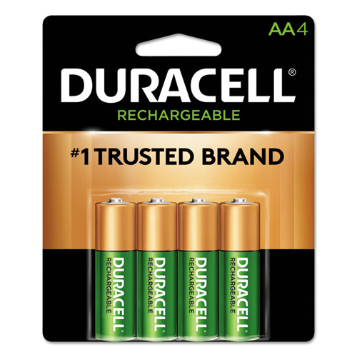 Rechargeable StayCharged NiMH Batteries, AA, 4/Pack | by Plexsupply