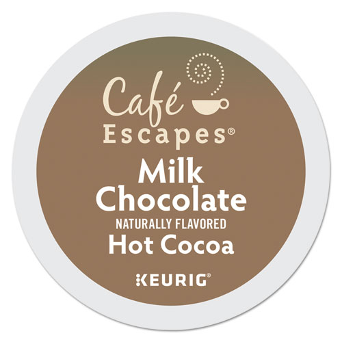 Caf Escapes Milk Chocolate Hot Cocoa K-Cups, 96/Carton