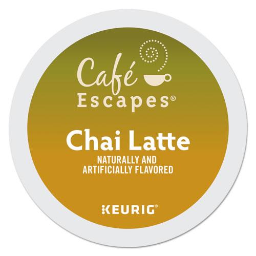 Caf Escapes Chai Latte K-Cups, 96/Carton