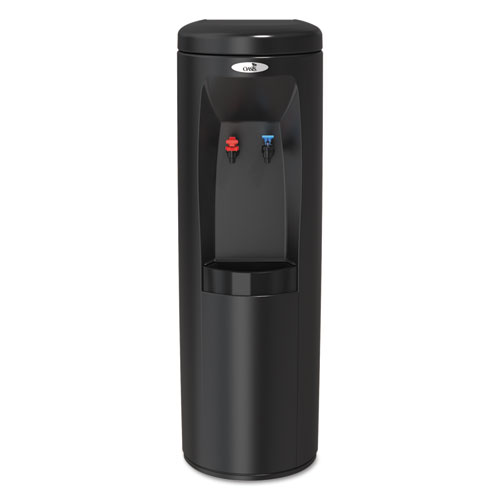 Atlantis Floorstand Hot N Cold Water Cooler, 177 oz/Cold Water per Hour 270 oz/Hot Water per Hour, Black