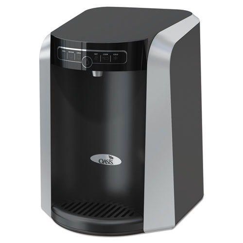 Aquarius Counter Top Hot N Cold Water Cooler, 177 oz/Cold Water per Hour 270 oz/Hot Water per Hour, Black