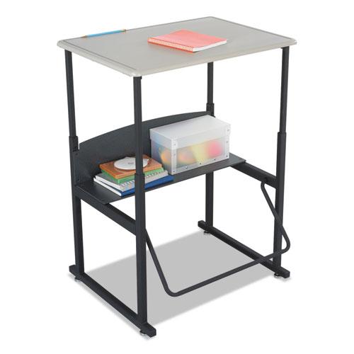 """Safco® Alphabetter Desks, 28"""" x 20"""" x 26"""" to 42"""", Beige"""