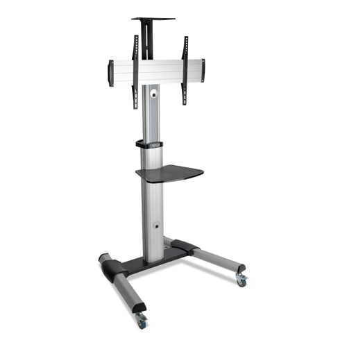 """Tripp Lite Mobile Flat Panel Floor Stand, Floor, 32"""" to 70"""", up to 110 lbs., Black/Silver"""