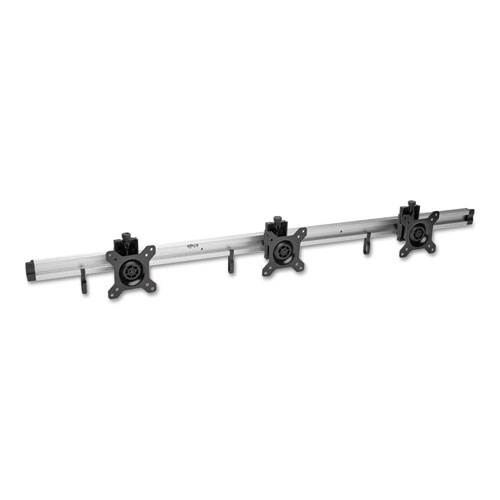 """Tripp Lite Wall Mount, 3 Monitor, 10"""" to 15"""", up to 18 lbs., Silver"""