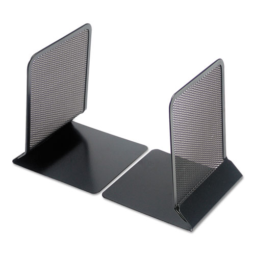 Metal Mesh Bookends, 5 3/8 x 6 3/4, Black