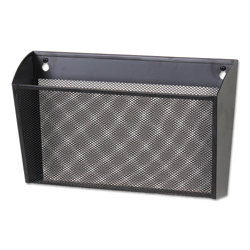 Metal Mesh Wall FileSingle Pocket, 14 1/8 x 3 3/8 x 8 1/8, Letter, Black