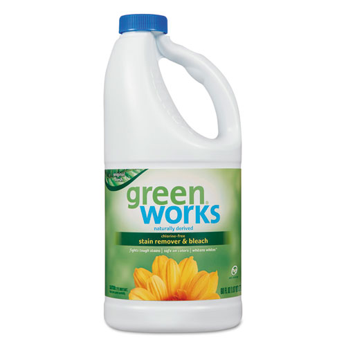 Green Works® Chlorine Free Stain Remover and Bleach, 60 oz Bottle, 8/Carton