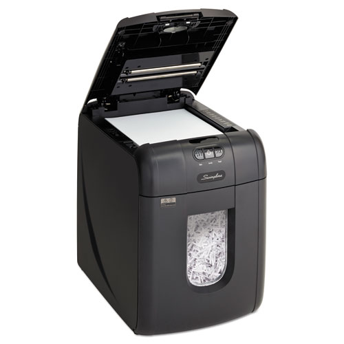 Stack-and-Shred 130X Auto Feed Super Cross-Cut Shredder, 130 Auto/6 Manual Sheet Capacity | by Plexsupply