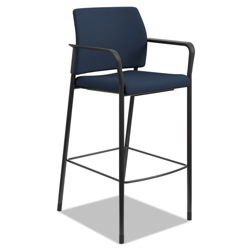 Accommodate Series Caf Stool, Supports up to 300 lbs., Navy Seat/Navy Back, Black Base