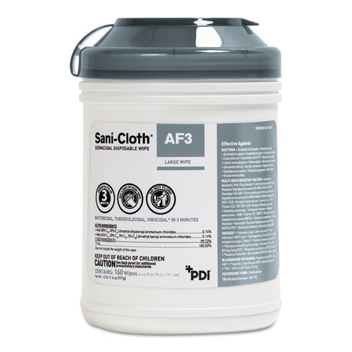 Sani Professional® Sani-Cloth AF3 Germicidal Disposable Wipes, 6 x 6 3/4, 12 per Carton