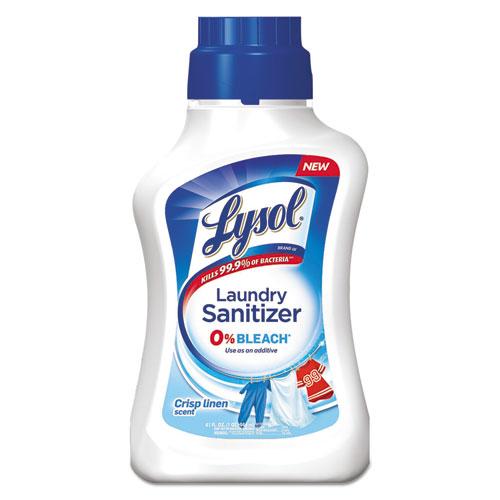 LYSOL® Brand Laundry Sanitizer, Liquid, Crisp Linen, 41 oz, 6/Carton
