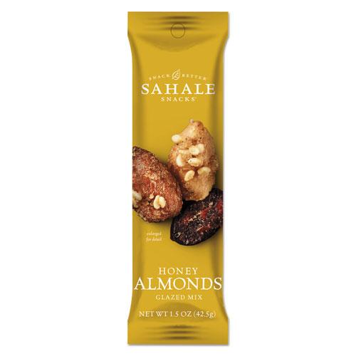 Glazed Mixes, Honey Glazed Almond, 1.5 oz, 18/Carton