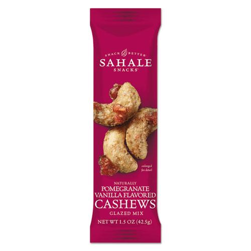 Glazed Mixes, Cashew Pom Vanilla, 1.5 oz, 18/Carton