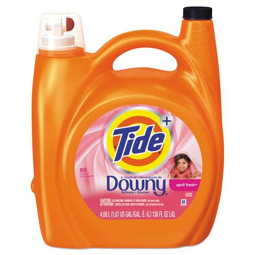 Tide® Touch of Downy Liquid Laundry Detergent, April Fresh, 138 oz Bottle, 4/Carton