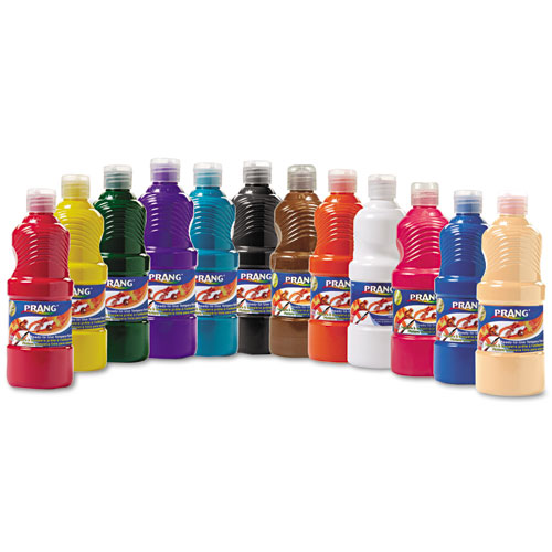 Ready-to-Use Tempera Paint, 12 Assorted Colors, 16 oz, 12/Pack 21696