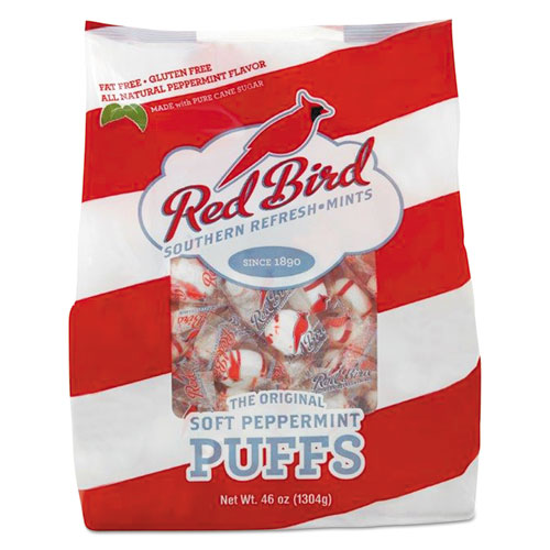 Red Bird Peppermint Puffs, Peppermint, Tub, 46 lb