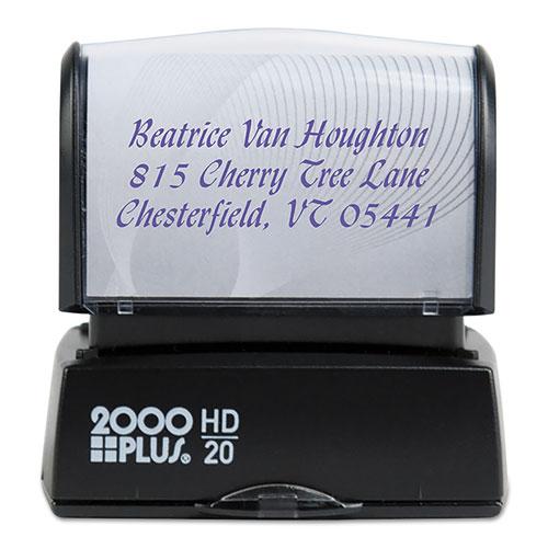 HD Custom Stamp, Pre-Inked, Blk/Blue/Green/Gold/Orange/Red/Violet, 1 1/2 x 9/16