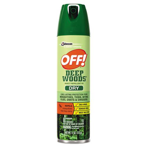 OFF!® Deep Woods Dry Insect Repellent, 4oz, Aerosol, Neutral, 12/Carton