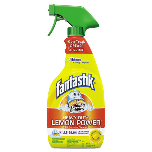 Fantastik® Scrubbing Bubbles Lemon Power Antibacterial Cleaner, 32 oz Spray Bottle, 8/CT